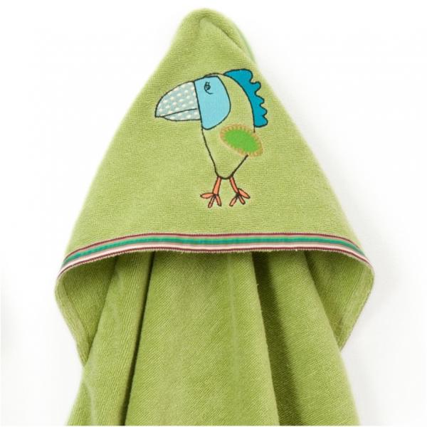 Breganwood Organics Hooded Towel Funny Bird