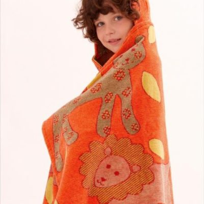 Breganwood Organics Orange Jungle Hooded Wrap
