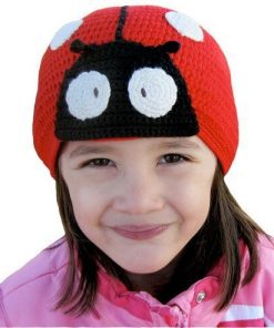 fitted bamboo beanie ladybird