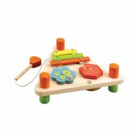 Everearth flip over triangle musical toys set