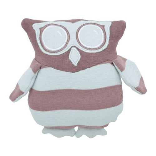 Under The Nile organic Owl toy misty blue