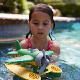 Floating seaplane pool toy