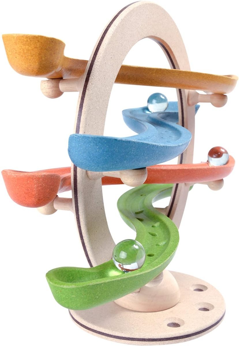 Eco wooden marble run by Plan Toys