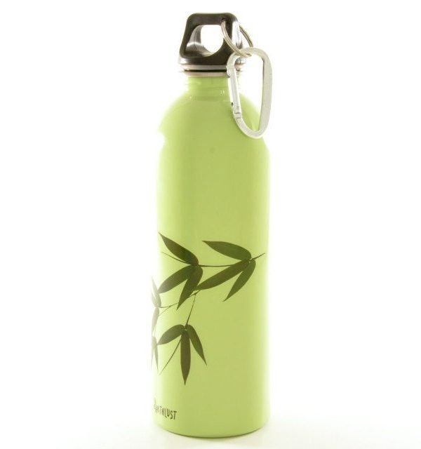 earthlust stainless steel bottle bamboo 1litre