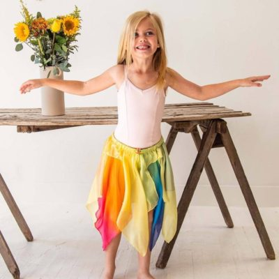 Sarah's Silks Fairy Skirt Yellow Rainbow