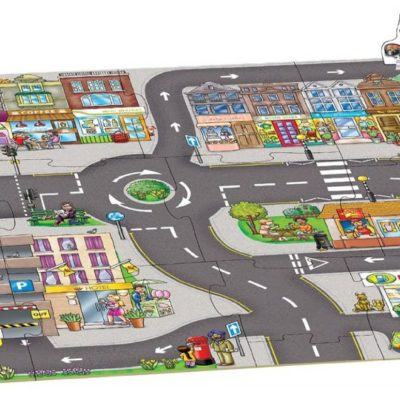Award winning giant town jigsaw puzzle