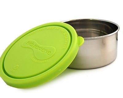 Kids Konserve medium round container lime