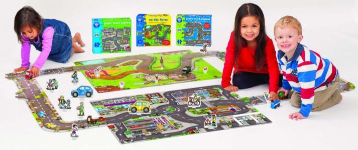 Orchard Toys large town jigsaw