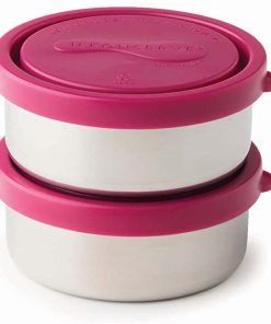 Kids Konserve Small Round Containers Set of 2 Magenta