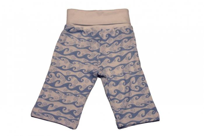 Under The Nile Organic Rolled Waist Pant - Wave Print