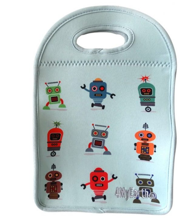 4MyEarth Insulated Lunch Bag Robot