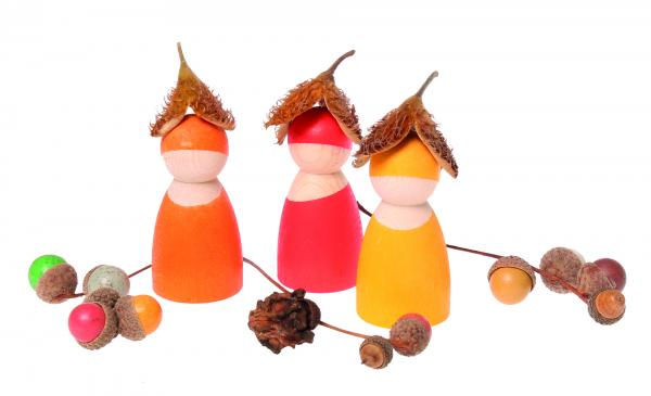 grimes wooden dolls in nature hats