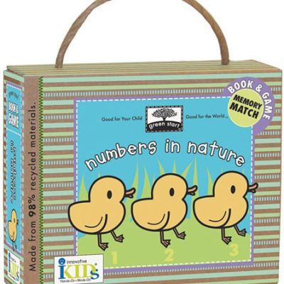 green start numbers in nature memory game and book