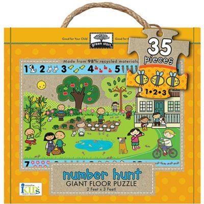 green start number hunt floor puzzle