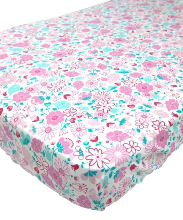moonlit sleep fairy garden floral fitted cot sheet