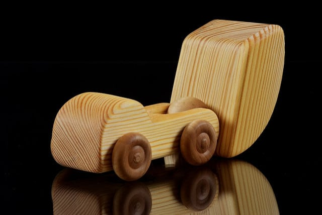 wooden tip truck tipping
