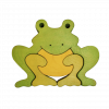 fauna wooden frog puzzle