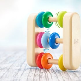 Selecta rainbow wooden abacus rattle