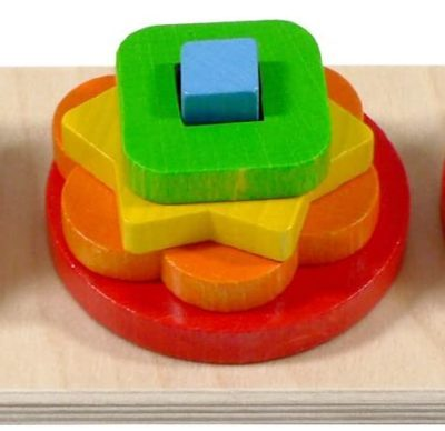 Rainbow coloured shape puzzle