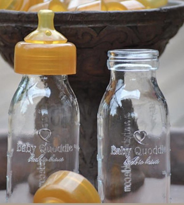 baby quoddle abel series glass baby bottle twin pack