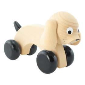 Push along dog on wheels