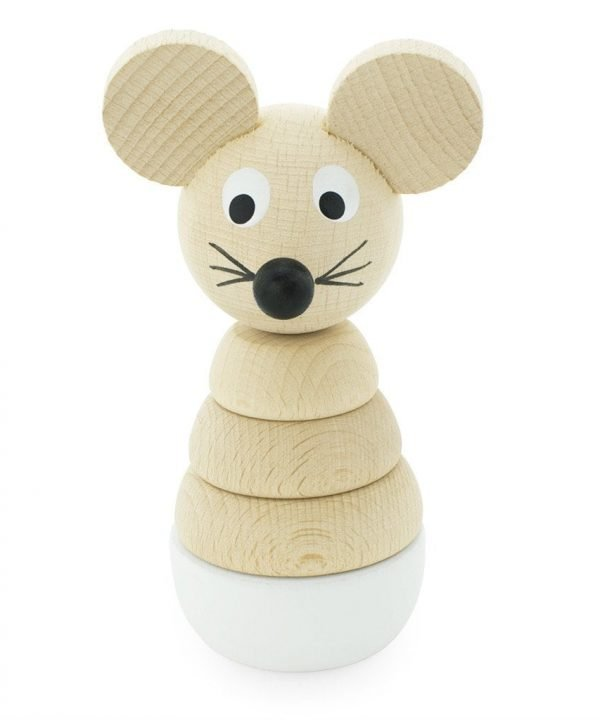 Miva vacov wooden mouse stacking toy hobbs