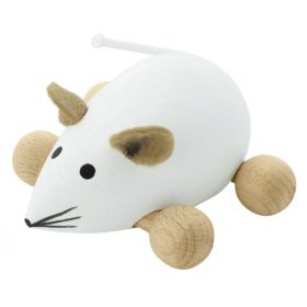 Wooden push along mouse toy Snowflake