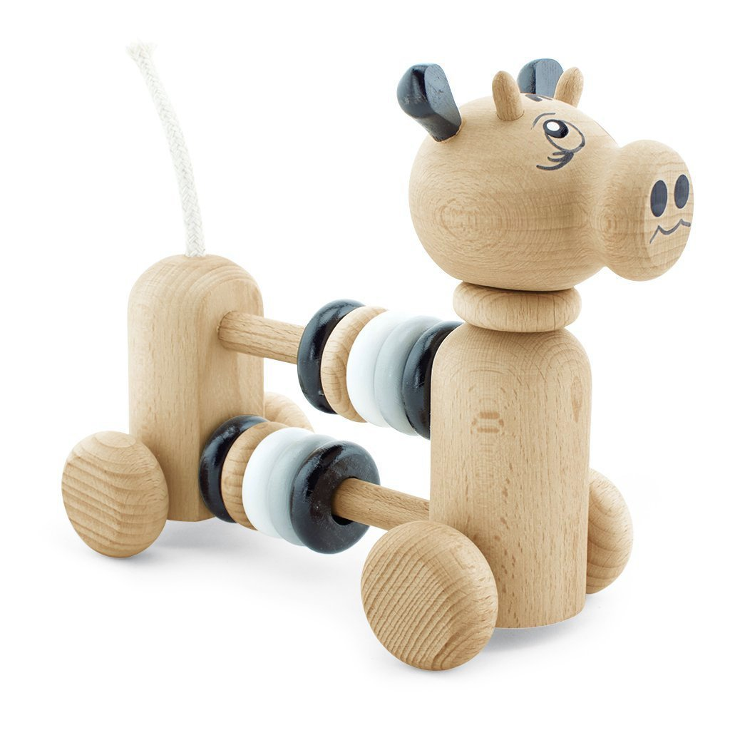 Miva Vacov wooden cow toy with counting frame