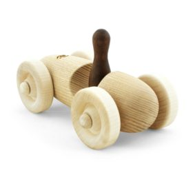 Eco wooden toy car with wooden figure