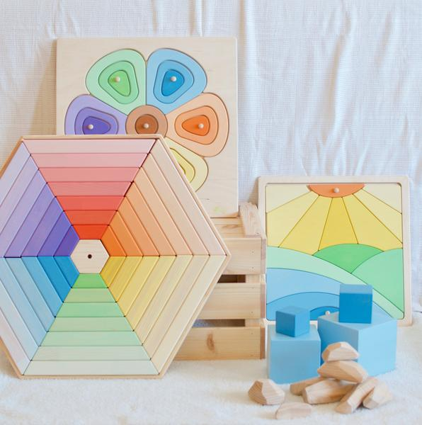 playful wood puzzles