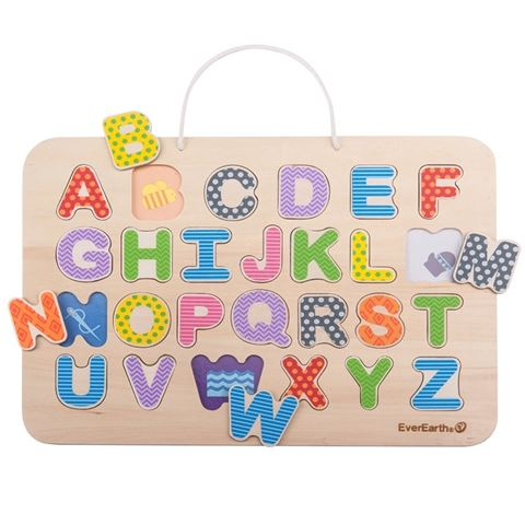 Everearth magnetic alphabet puzzle