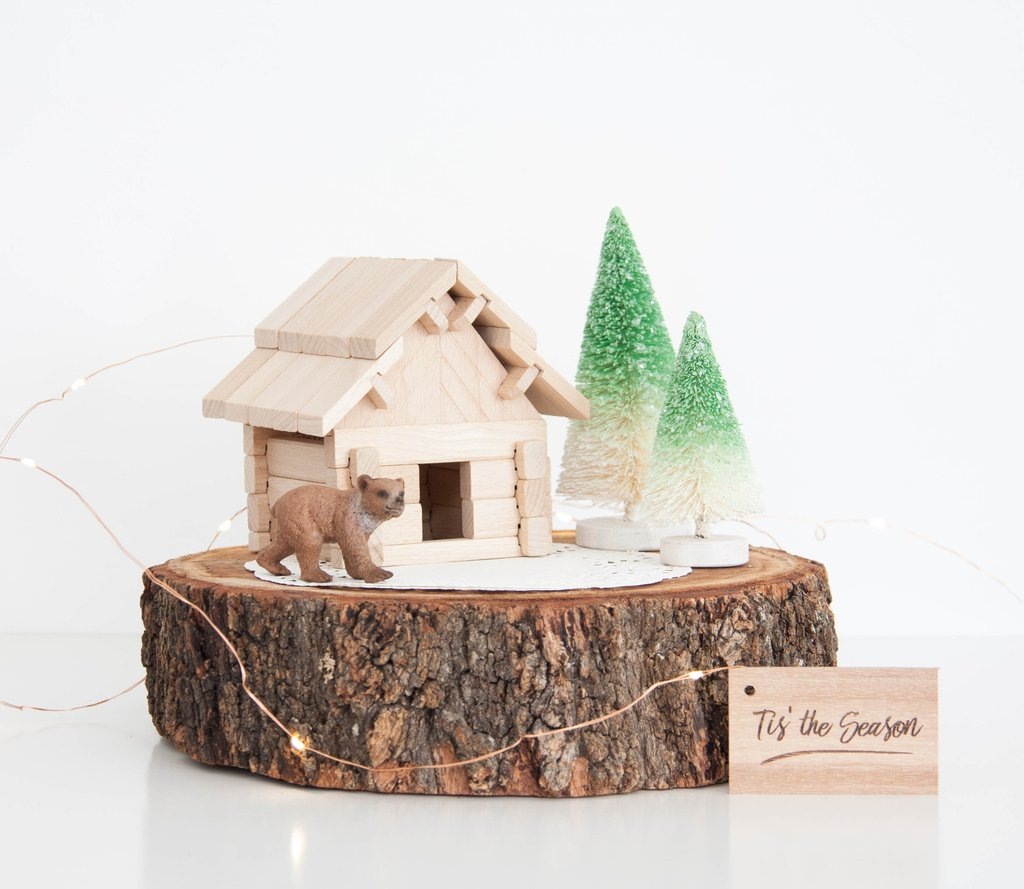 build your wooden toy hut