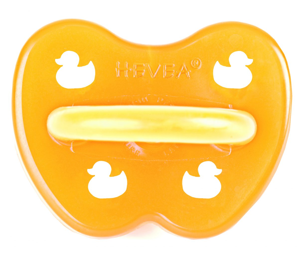 Natural rubber round soother ducks