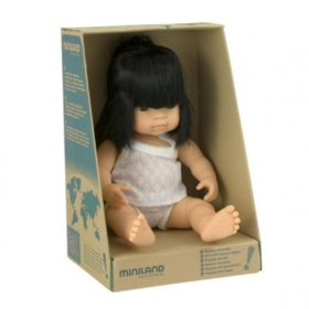 miniland baby asian girl doll