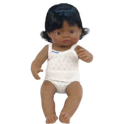 Miniland girl doll hispanic