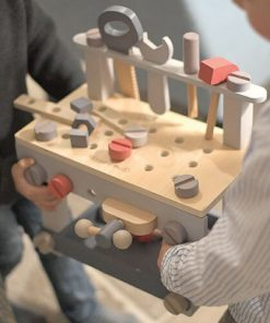 Eco wooden tool bench for kids.