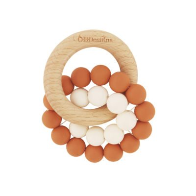 Eco Friendly Teether in Cinnamon