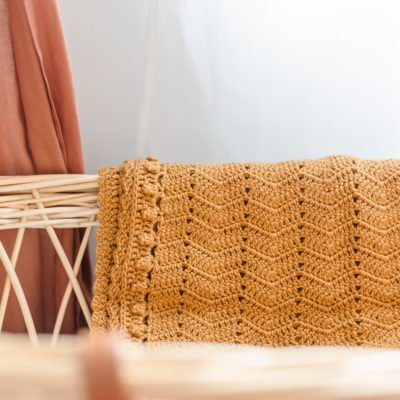handmade cinnamon basinet blanket