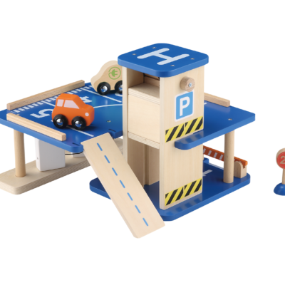 wooden toy garage