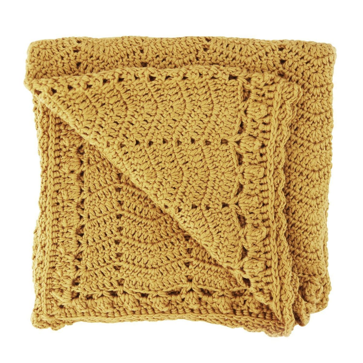 Crocheted Baby Blanket Turmeric