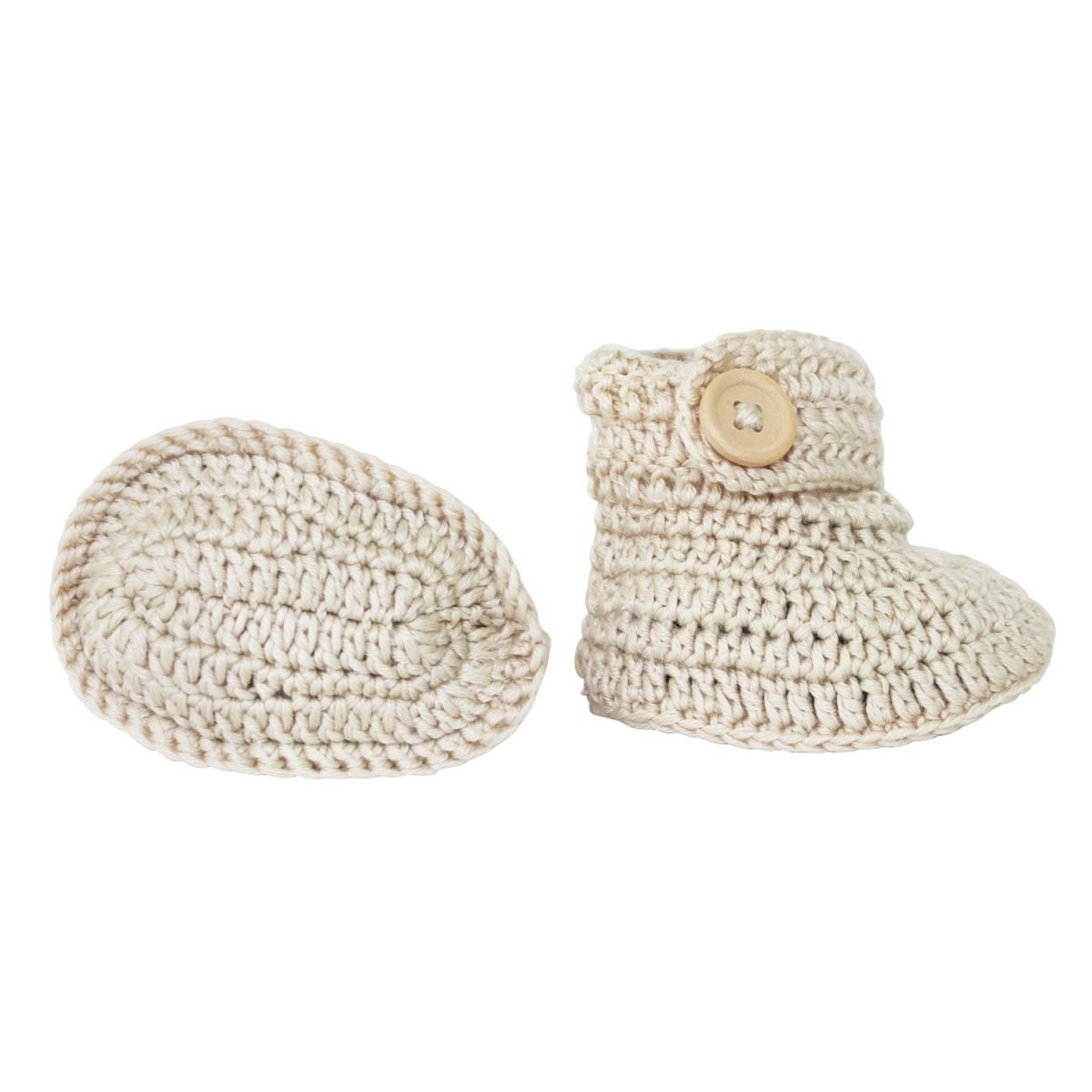 crocheted vanilla booties