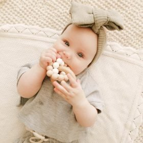 silicon teether by Ob Designs in Blush