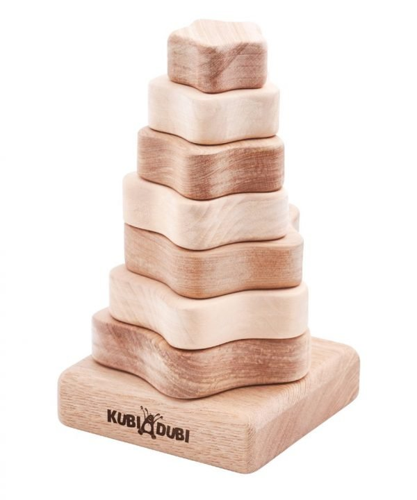 wooden stacking pyramid modern