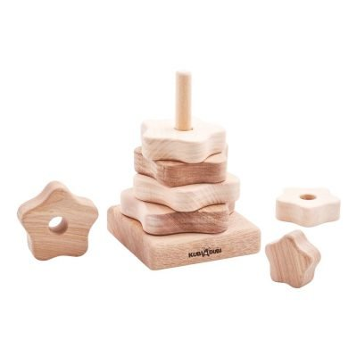 7 piece natural stacking puzzle