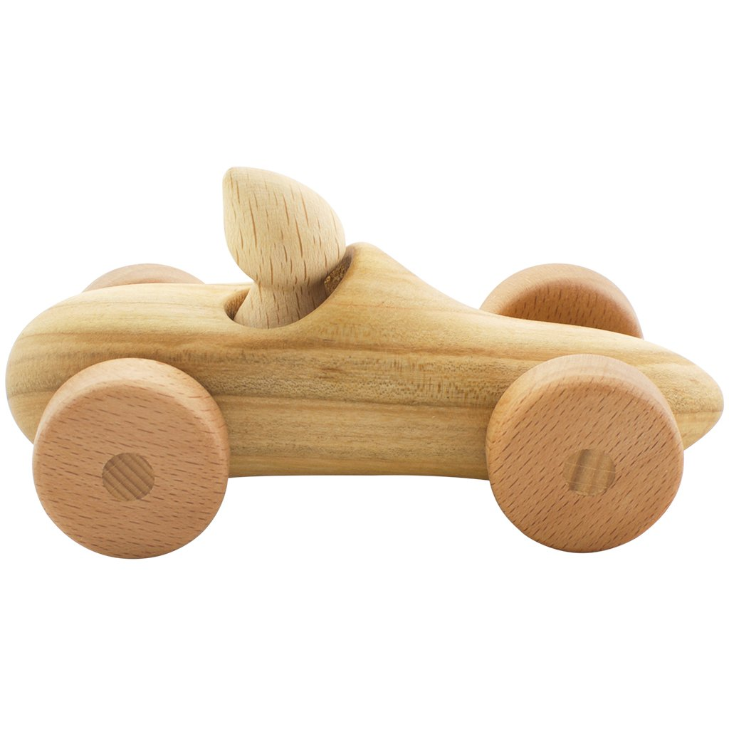 Tateplota wooden toy car and Felix the driver