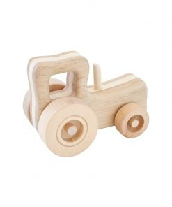 Rick the wooden tractor side view