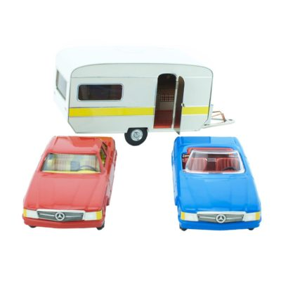 car and caravan toy set