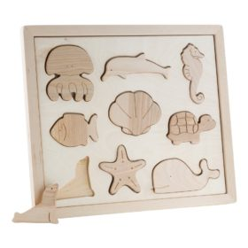 Educational wooden sea life puzzle