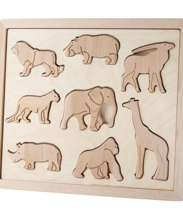 wooden sorting puzzle animals of africa