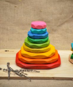 coloured stacking stone